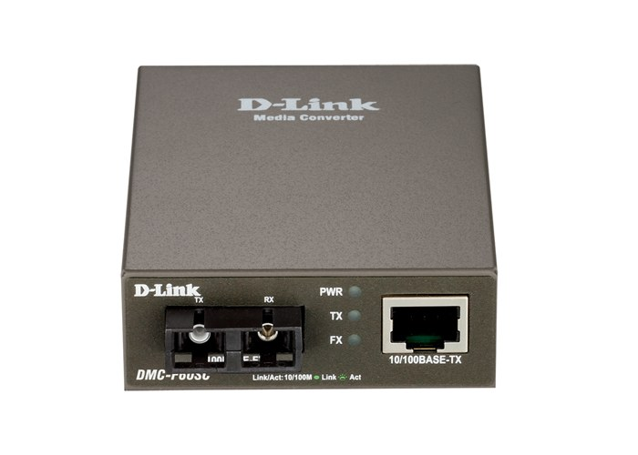 D-Link DMC-F60SC, Fast Ethernet Twisted-pair to Fast Ethernet Single-mode Fiber (60km, SC) Media Converter