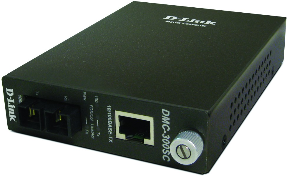 D-Link DMC-300SC/D7A, Fast Ethernet Twisted-pair to Fast Ethernet Multi-mode Fiber (2km, SC) Media Converter Module