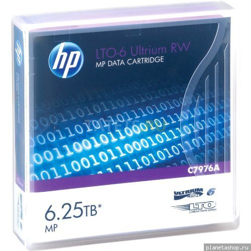 Картридж HP Ultrium LTO-6 Data cartridge, 6.25TB RW (C7976A)