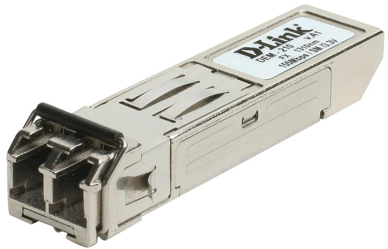 D-Link DEM-210, 100BASE-FX Single-Mode 15KM SFP Transceiver** (10 pcs bundle)
